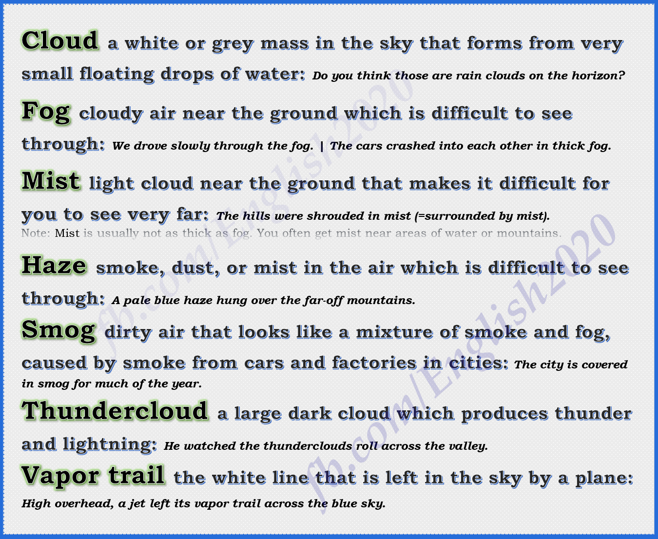 Synonyms - Cloud