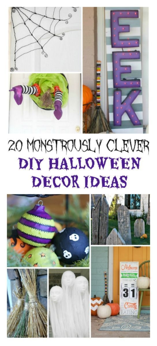 20 MONSTROUSLY CLEVER DIY HALLOWEEN DECOR IDEAS Clever diy, DIY - halloween decorations at home