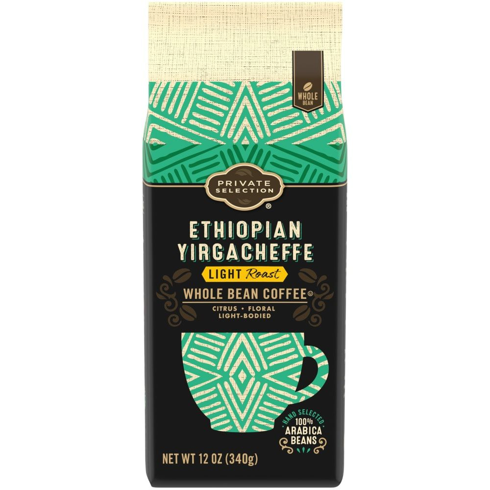 Private Selection Ethiopian Yirgacheffe Light Roast Whole Bean Coffee 11 5 Oz In 2020 Ethiopian Yirgacheffe Light Roast Coffee Beans