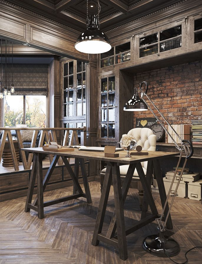 Home Office Furniture Home Office Decor Home Office Design: Rustic Home Offices, Vintage Home Offices, Cozy Home Office