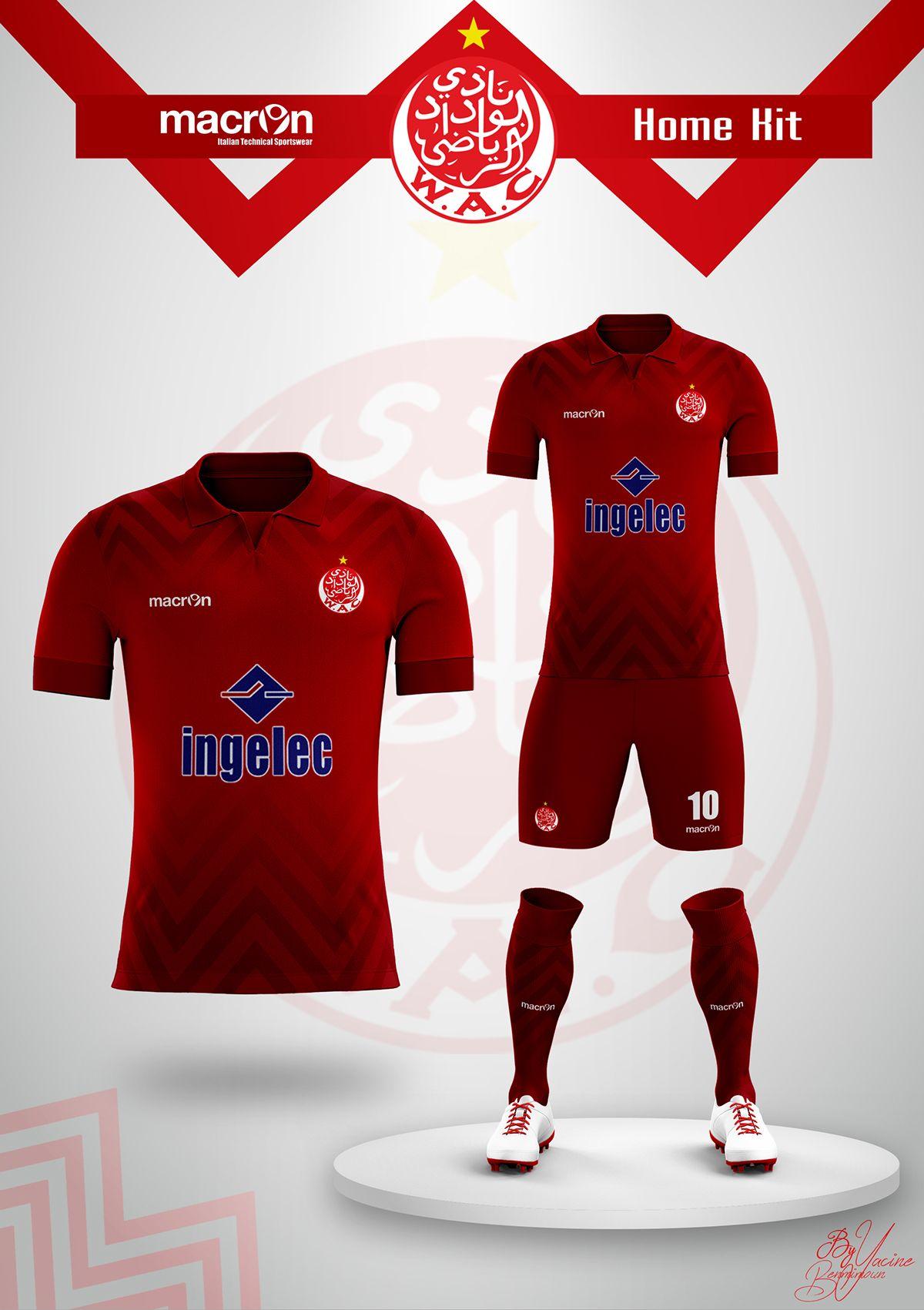 "Concept "" Wydad Athletic Club"" Kits Soccer 2017/2018 on"