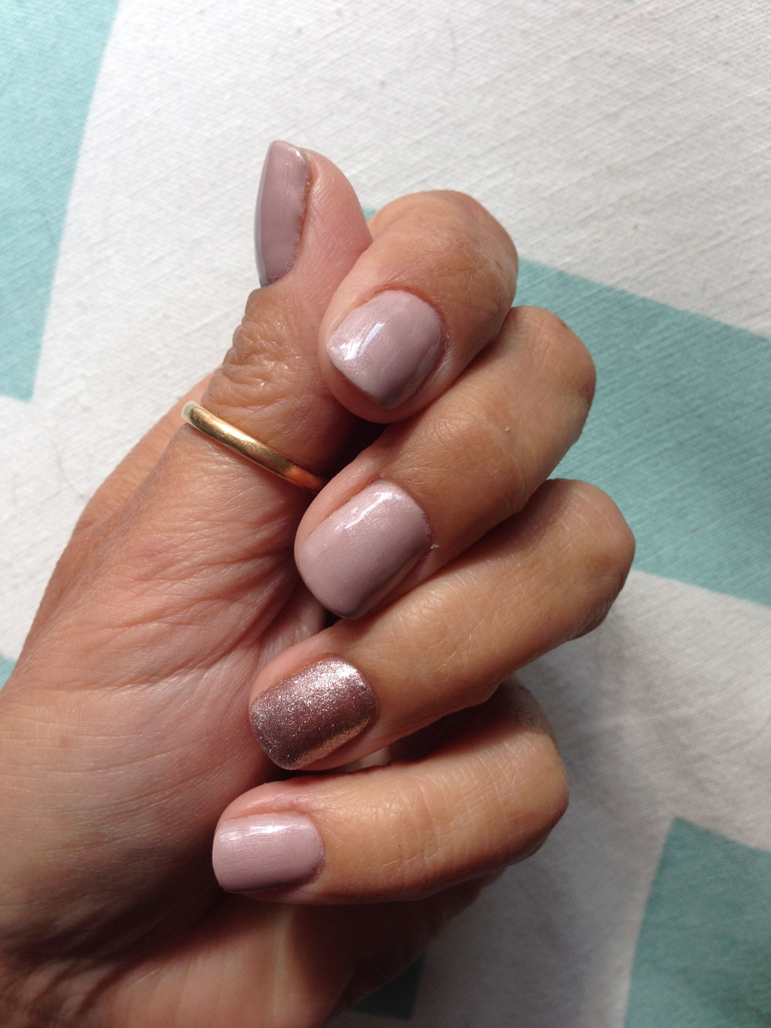 Artistic Colour Gloss nails in Posh with Goddess accent nail. By JJ ...