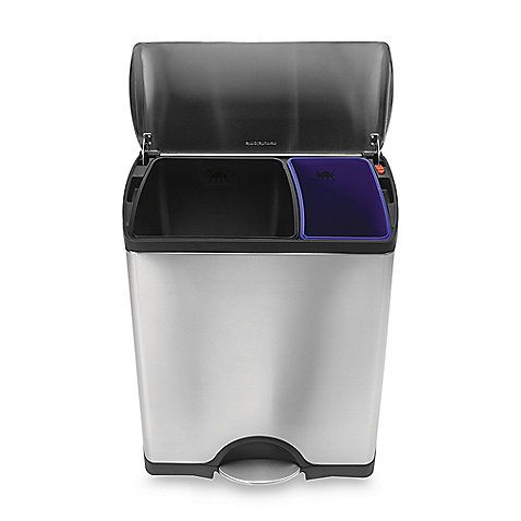Best This Fingerprint Proof Rectangular Recycler Has Two Color 400 x 300