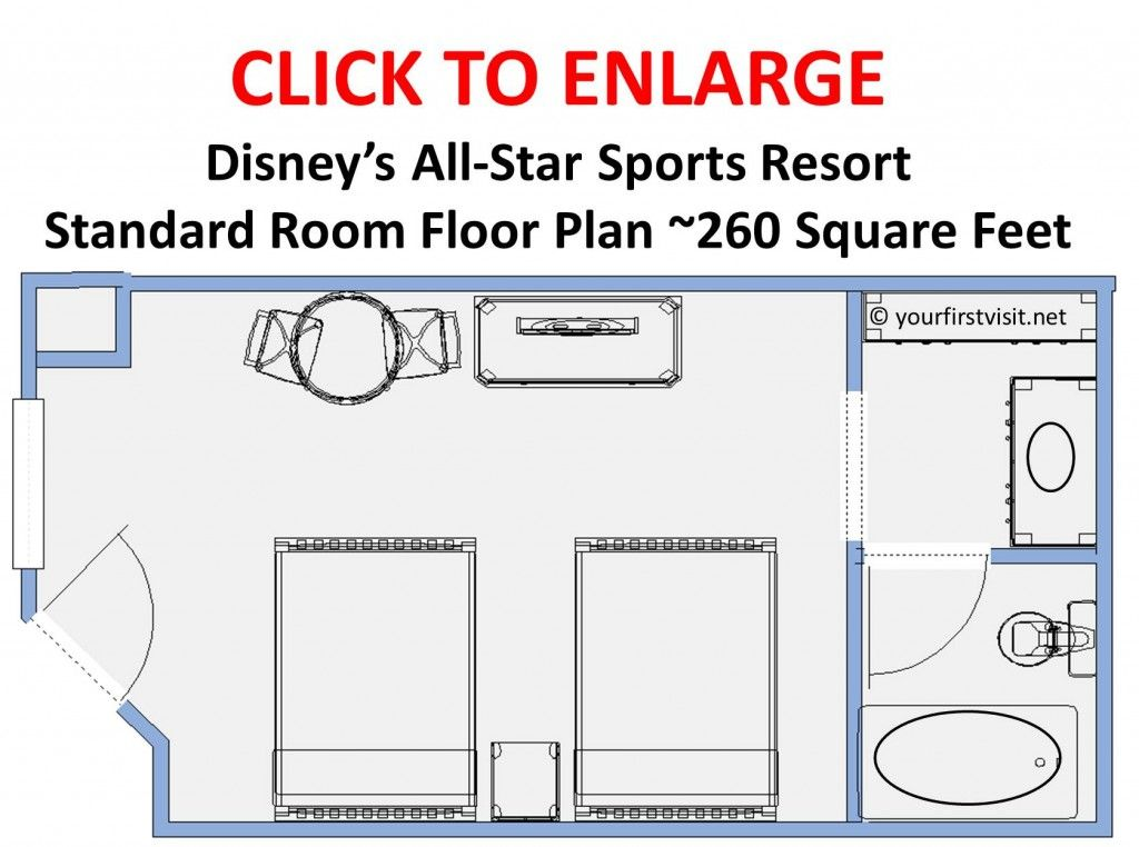 Photo Tour of a Standard Room at Disney's AllStar Sports