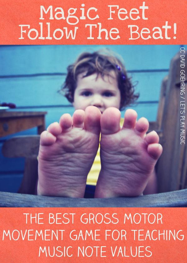 Great gross motor game to teach kids music note values