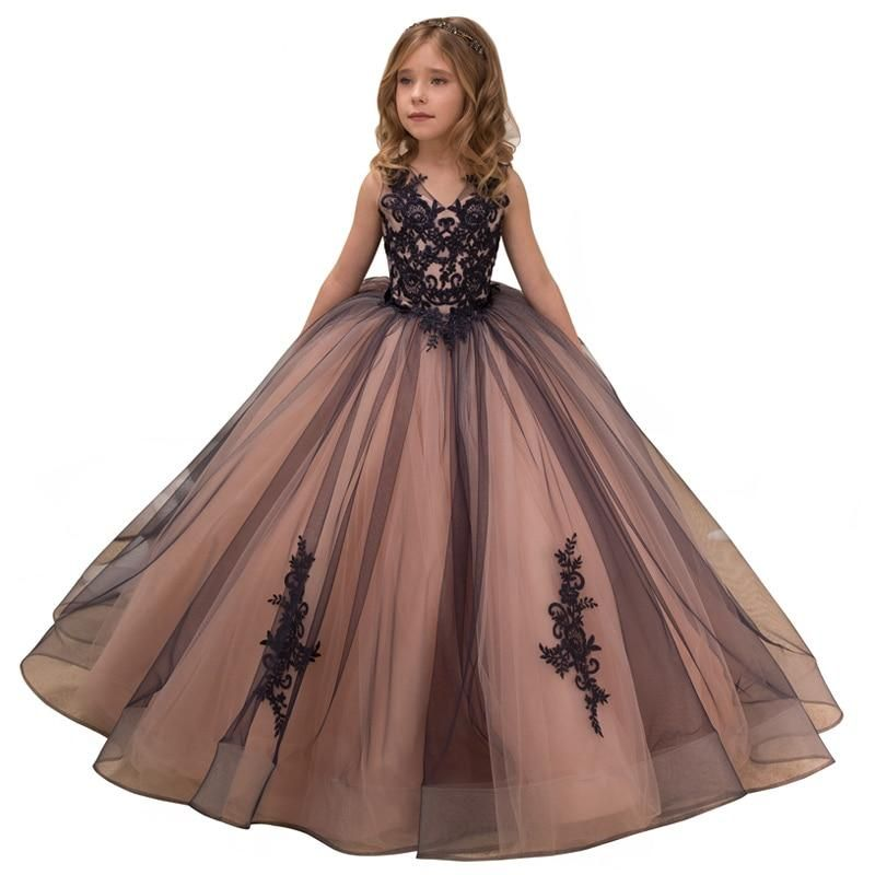 955fa223db Fancy little girls pageant dresses 2-12 years princess party dresses ...