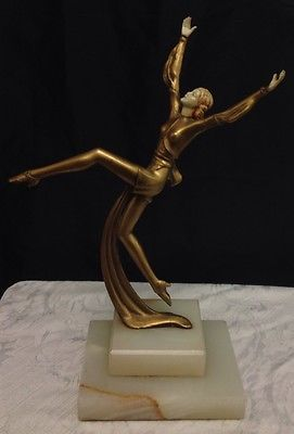 Victorian Gilt Art Nouveau Dancing Lady Statue    eBay