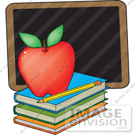 33667 clip art graphic of a red teacher u20ac s apple on a stack of rh pinterest com chalkboard banner clipart free chalkboard banner clipart free