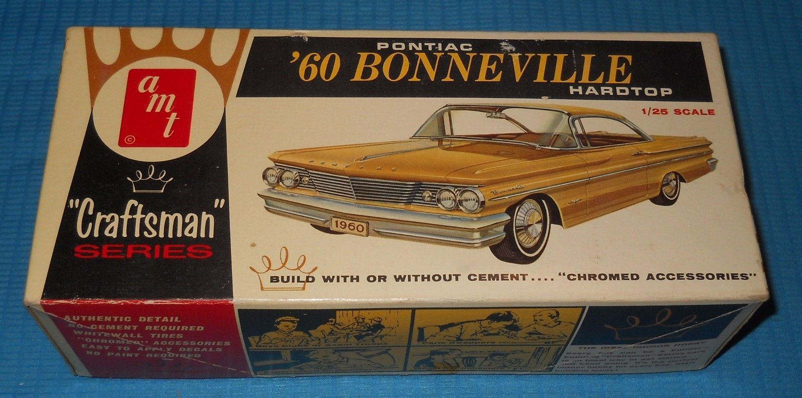 Amt 60 Pontiac Bonneville Hardtop Craftsman 1 X2f 25 Scale Kit Model Car Swap Meet Toys Amp Hobbies Model Car Model Pontiac Bonneville Plastic Model Kits