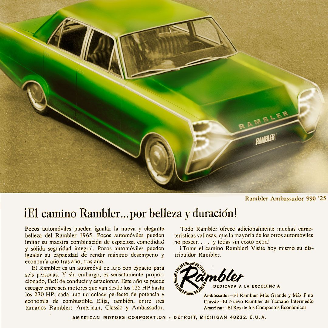 Thinking like designers of the past would think of the future. Rambler Ambassador 1965 future design #cardraw #car #conceptcar #carsketch #design