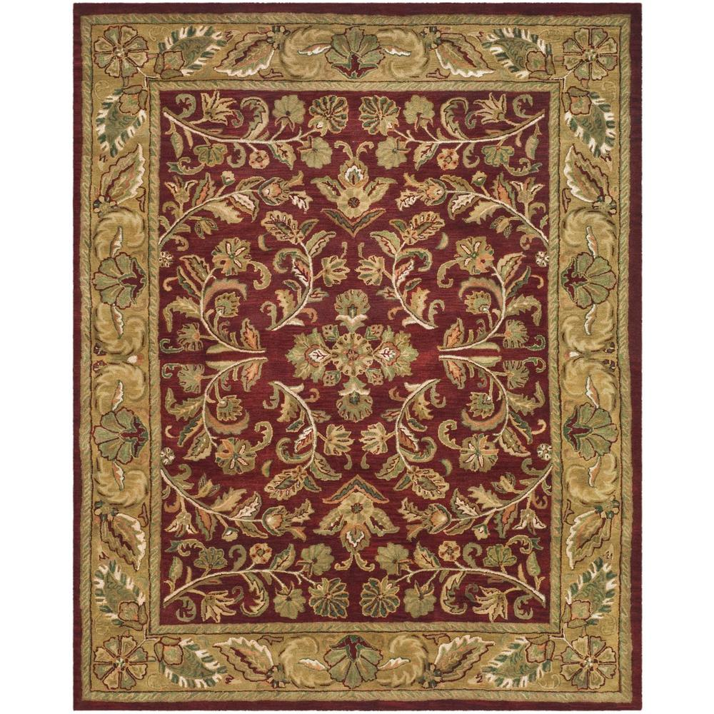 Safavieh Heritage Red Gold 8 Ft X 10 Ft Area Rug Hg170a 8
