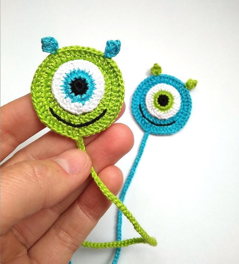Crochet Bookmark Monster Gift Ideas For Book Lovers Crochet Smile Book Lover Gift Bookmarks For Books Gift For Kids Crochet Bookmark Pattern Crochet Bookmarks Small Crochet Gifts
