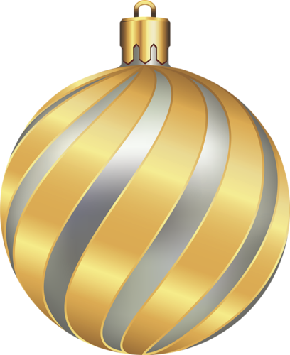 Gold Christmas Ornaments Png.Large Transparent Christmas Gold And Silver Ball 3d