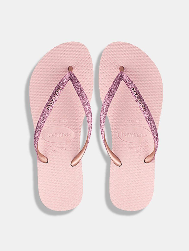 8cb3e808098 Havianas Pink Glitter FlipFlops