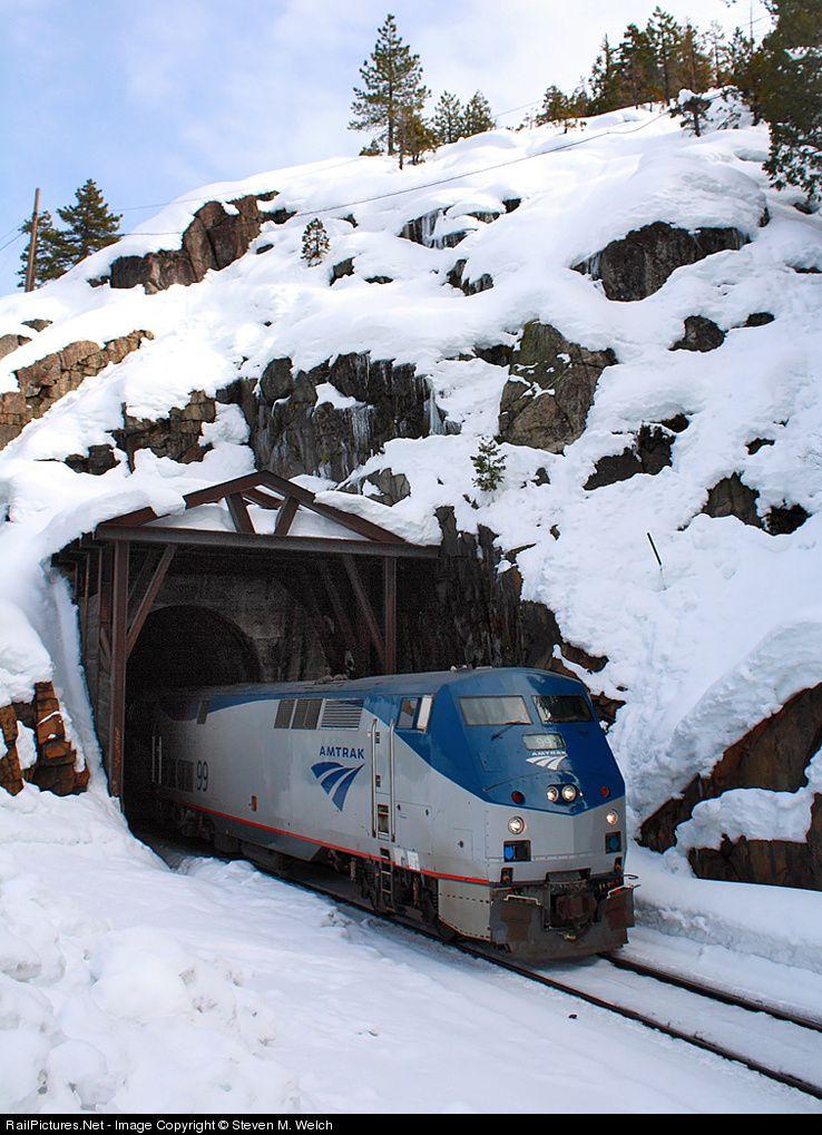 Amtk 99 Amtrak Ge P42dc At Yuba Pass California By Steven M Welch Amtrak Train Amtrak Train Tracks