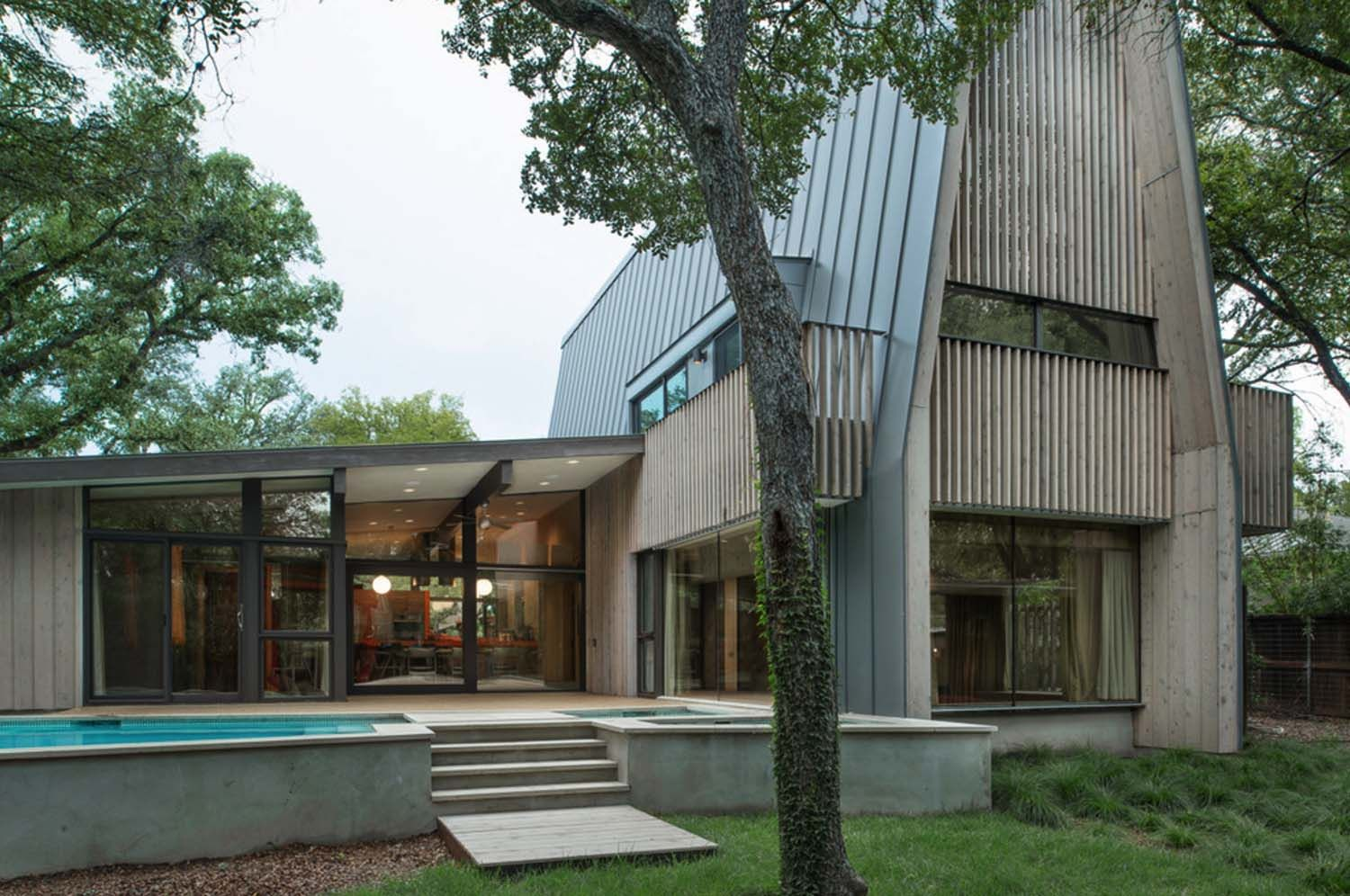 Photo of Midcentury space renovation in Texas options fantastic A-frame design