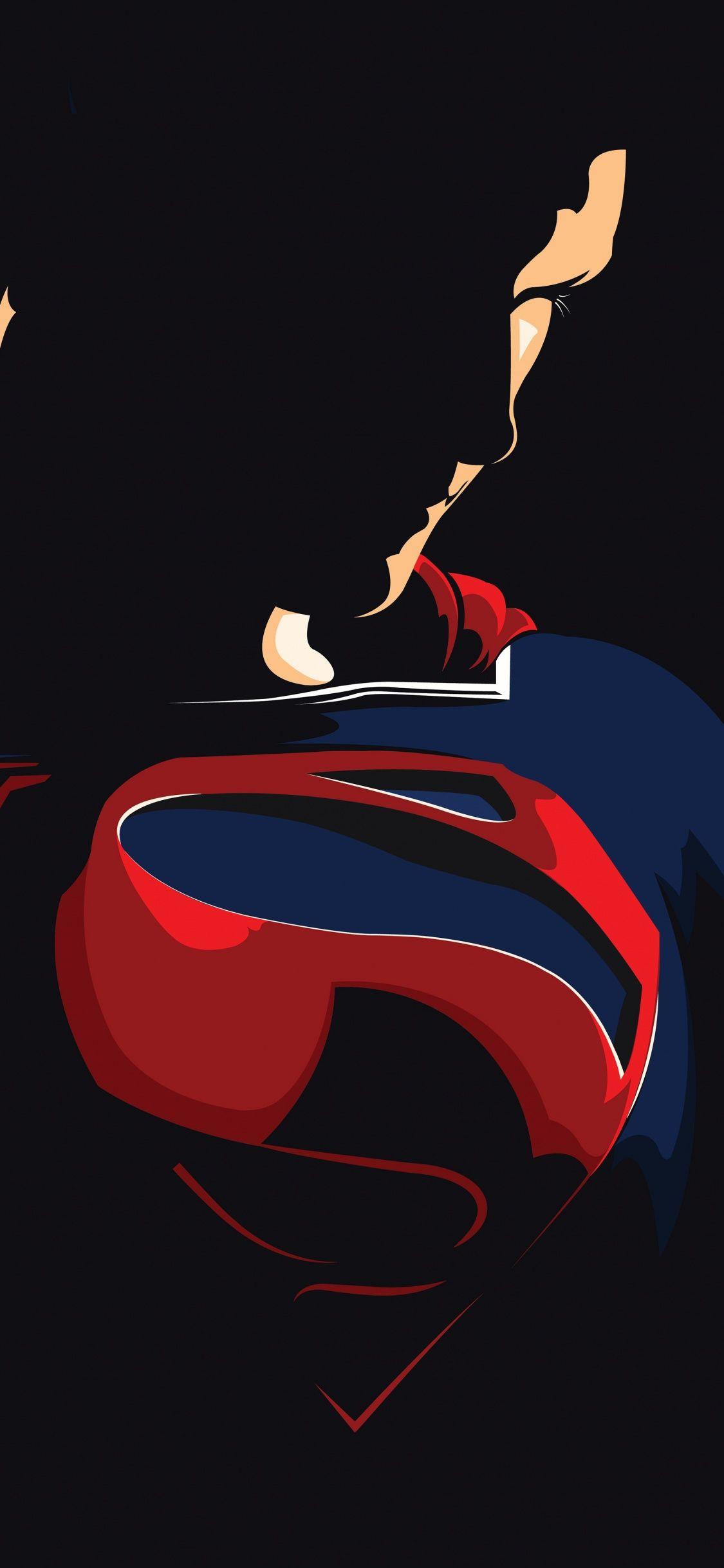 Download 1125x2436 Wallpaper Superman Justice League Minimal And Dark Dc Comics Iphone X 1125x Dc Comics Wallpaper Superman Hd Wallpaper Superman Wallpaper