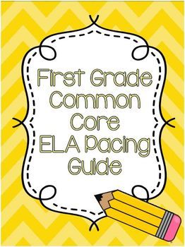 First Grade ELA Common Core Pacing Guide | September