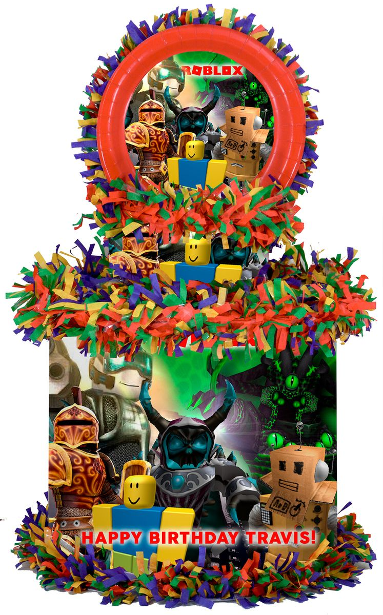 Roblox Characters Large Personalized Pinata Lego Party Boy Birthday Parties Personalized Party Supplies