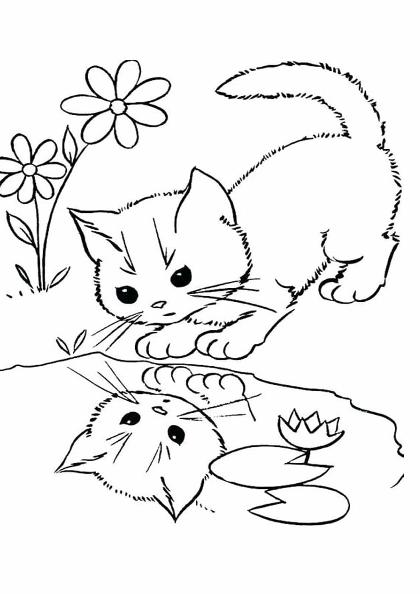 Free Easy To Print Kitten Coloring Pages In 2021 Cat Coloring Page Kittens Coloring Animal Coloring Pages