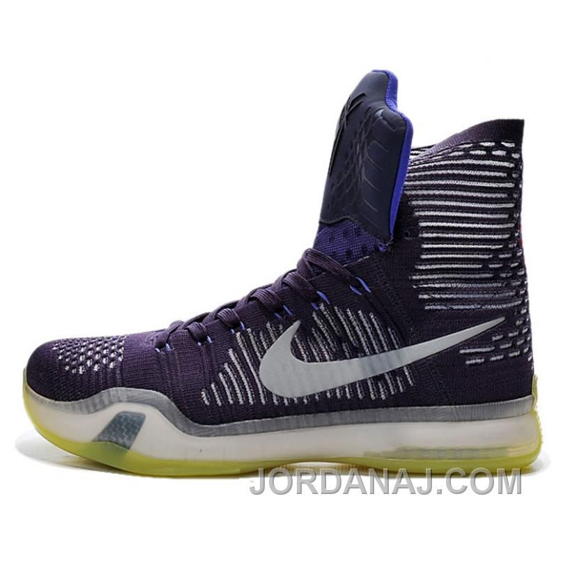 Nike Kobe 10 Men\'s Purple Hightop Basketball Shoes Christmas Deals ...