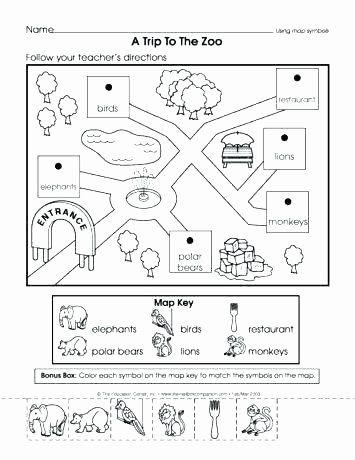 Map Worksheet 2nd Grade Second Grade Map Skills Worksheets ...
