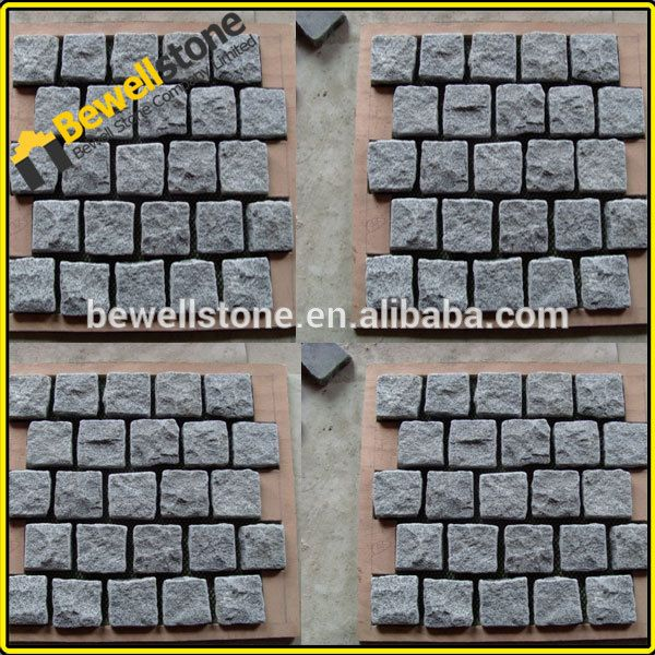 source polished darker gray dark gray cobblestone paver mats on malibabacom - Cobblestone Pavers