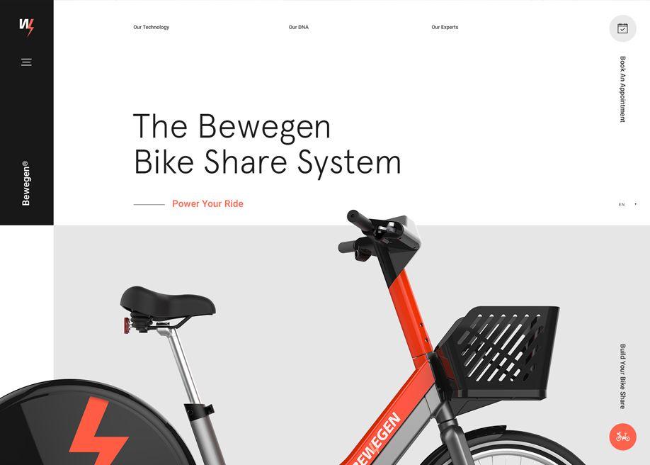 The Bewegen Bike Share System Power Your Ride Minimal Web