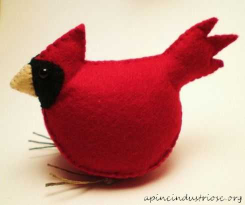 Free Felt Patterns and Tutorials: animals - birds
