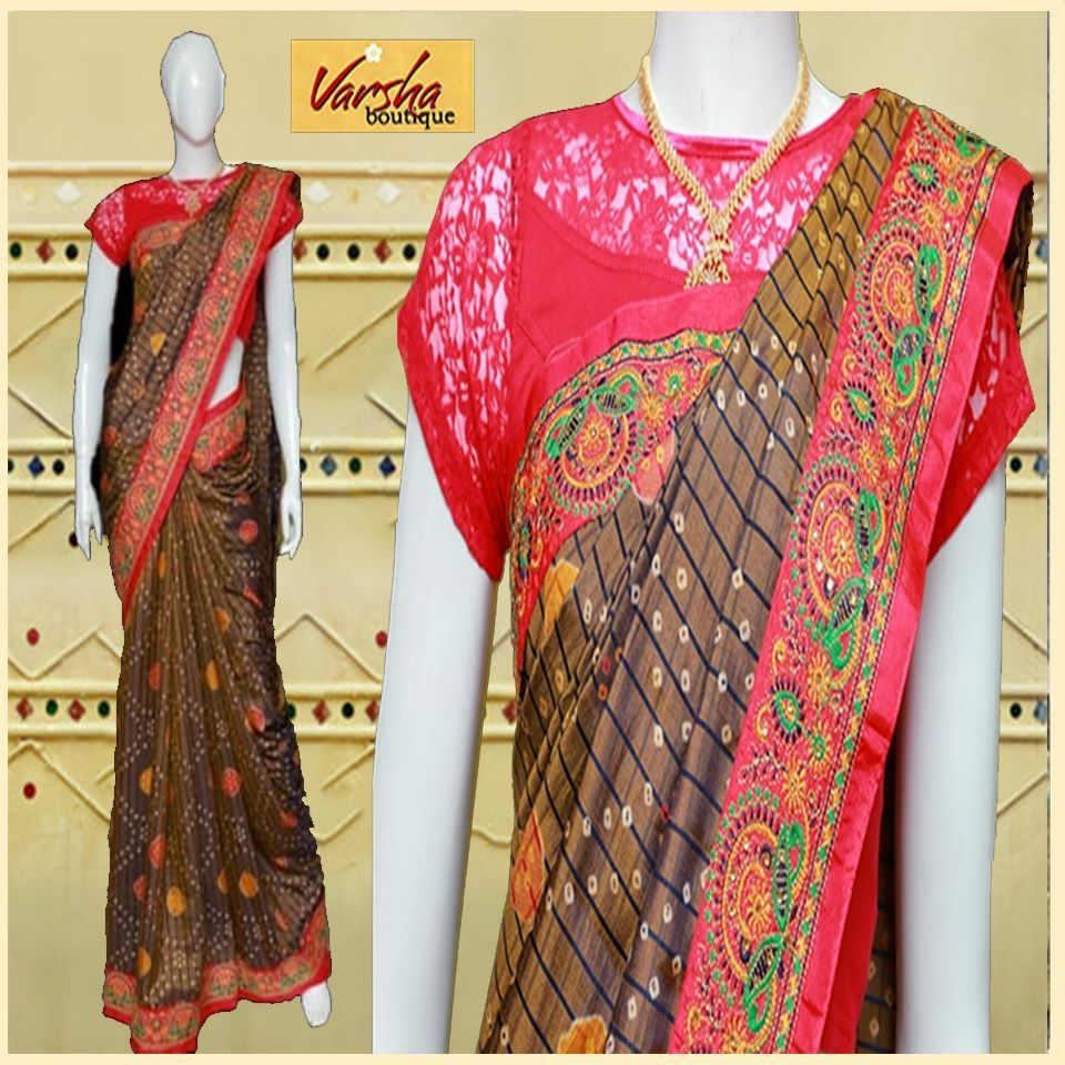 Add Gujarati Flavour To Your Wardrobe With Varshaboutique Multicolor Gujarati Style Sarees Collecti In 2020 Saree Perfect Outfit Fashion