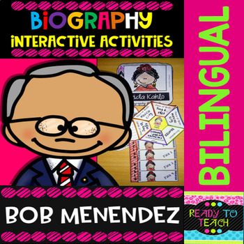 ENGLISH VERSIONYou will find a set of 4 different tasks to work on the biographies of Bob Menendez. There are 4 interactive activities to be done:Interactive Task 1: Students have to search facts about the biography of this famous person and write those facts related to his/her early and family lif...