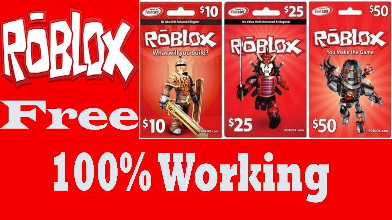 Roblox gift card - how to get free robux - roblox robux ...