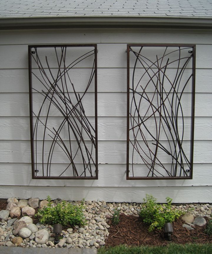 Metal Wall Sculpture In 2019 Outdoor Art Patio