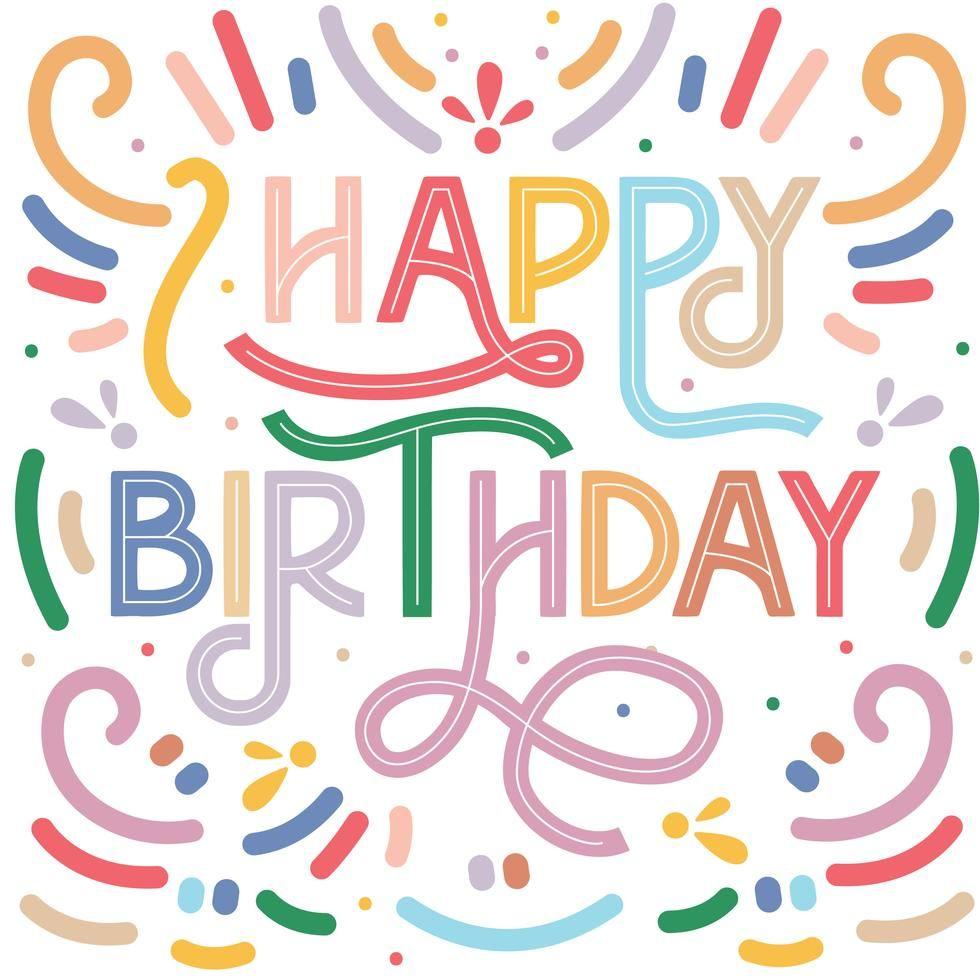 Free Download Colorful Happy Birthday Vector Design Card Template Happy Birthday Design Vector Design Card Template