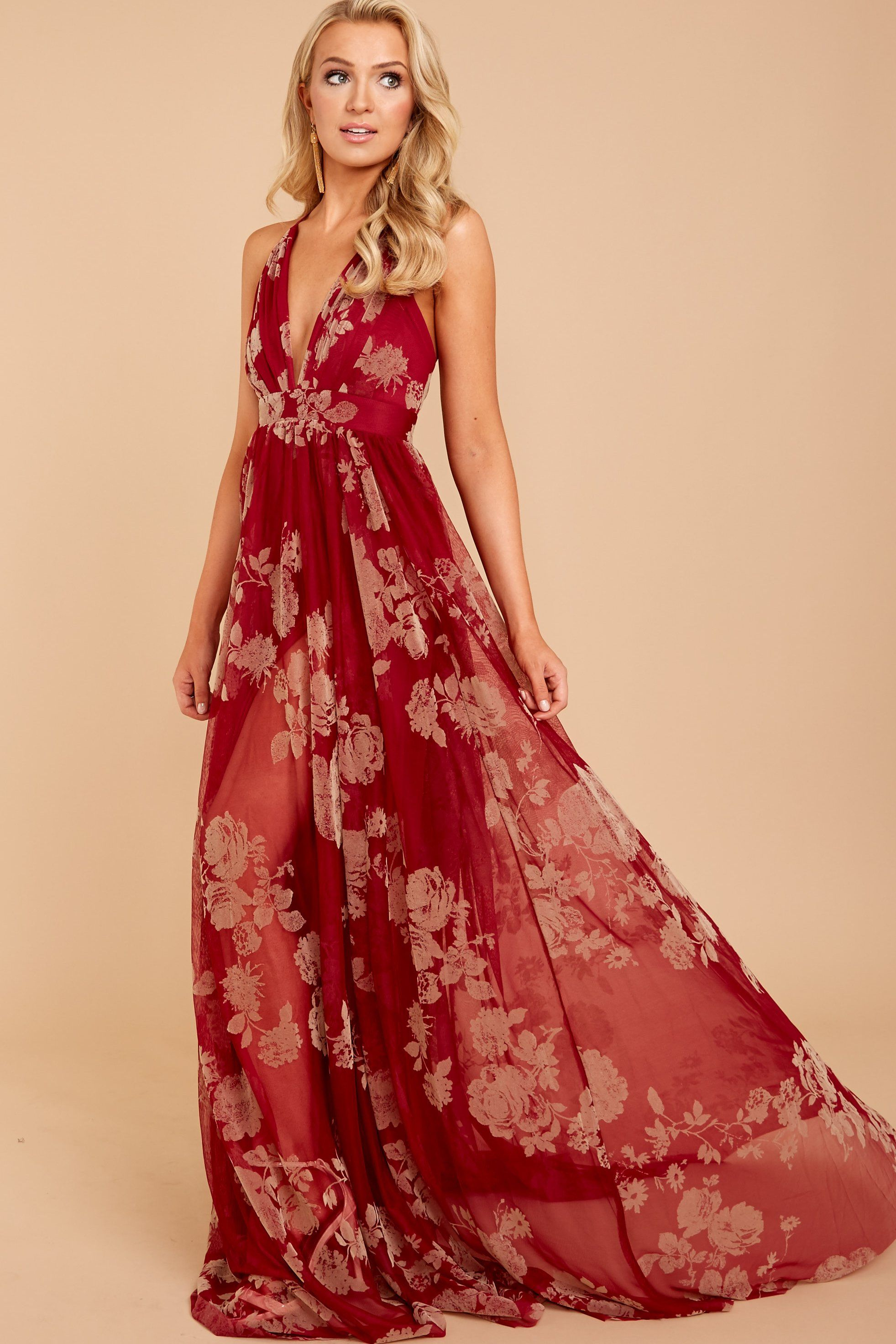 5172acfeddcf Elegant Red Maxi Dress - Gorgeous Wine Maxi Dress - $66.00 – Red Dress  Boutique