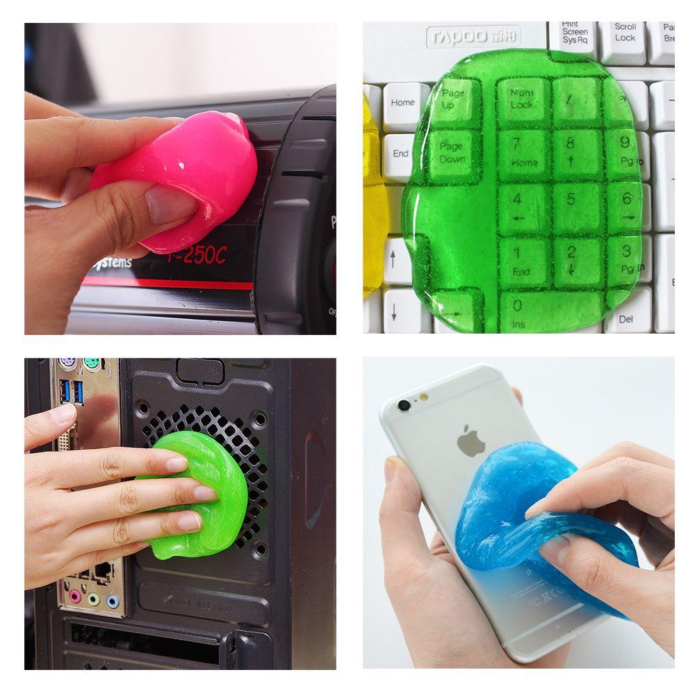 Magic Sticky Gel Practical For Car Pc Laptop Keyboard Car Super Clean Glue Hot Sale Dust Wiper Auto Detailing Cleaning Laptop Keyboard Car Wash Pc Laptop