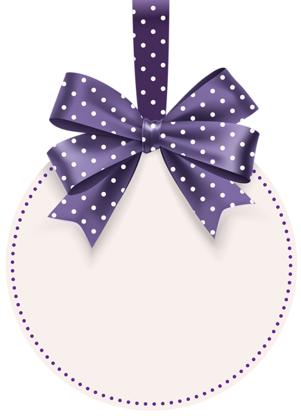 Round Label With Bow Template Png Clip Art Image Bow Template Crafts Floral Border Design