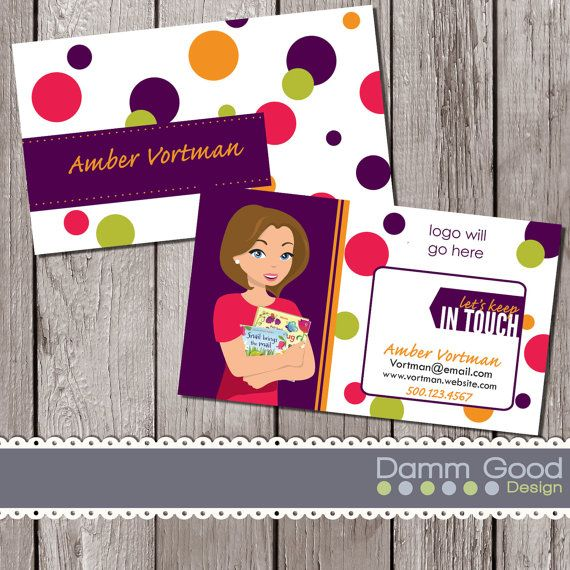 BUSINESS CARD, Usborne Business Card, By DammGoodDesign (With