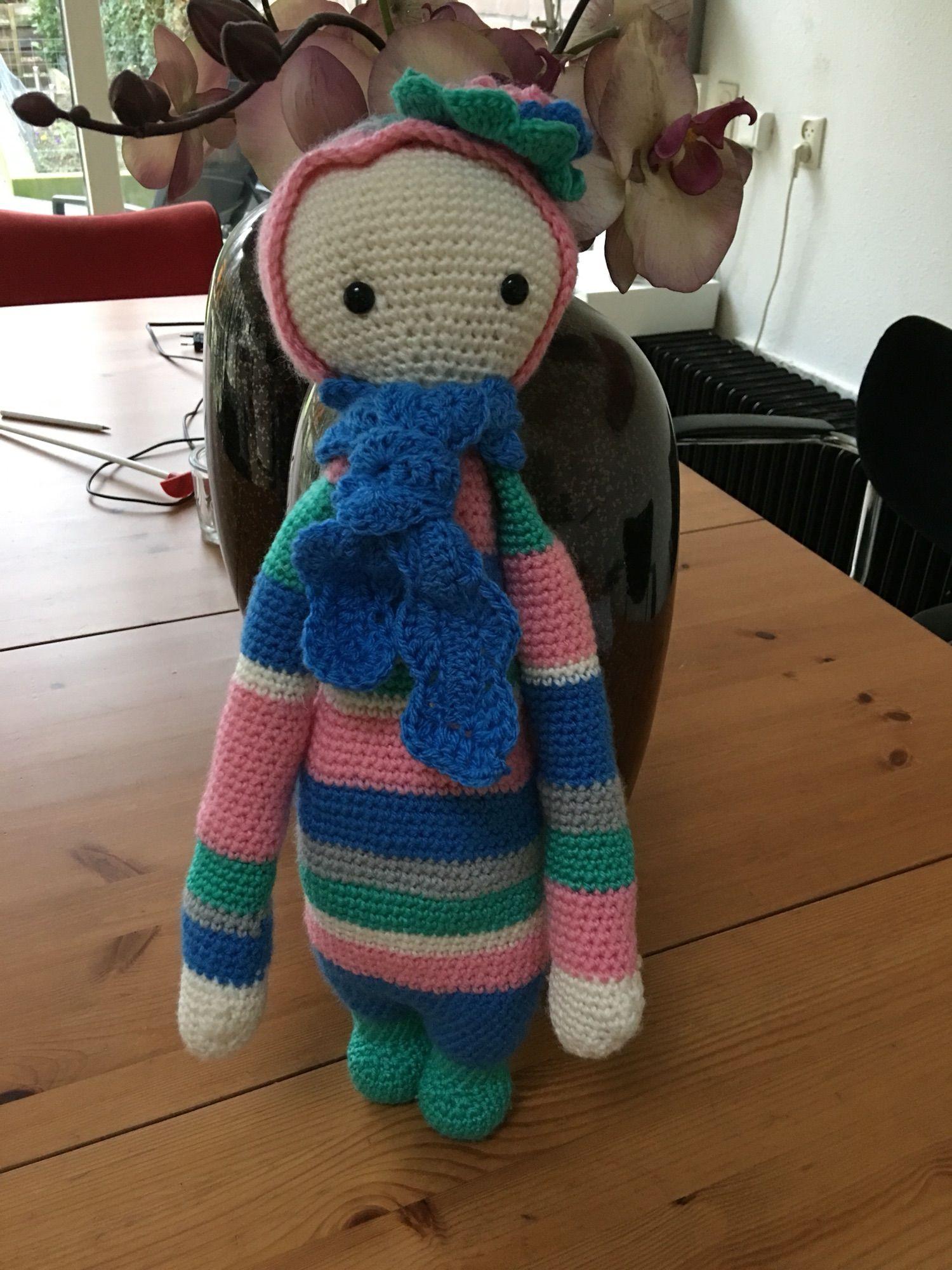lalylala doll made by Hennie d. H. / based on a lalylala crochet pattern