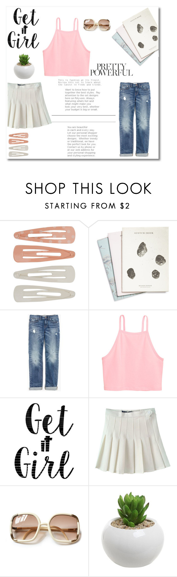 """Get it Girl"" by fleur-353 ❤ liked on Polyvore featuring Forever 21, Maison Scotch and Madewell"