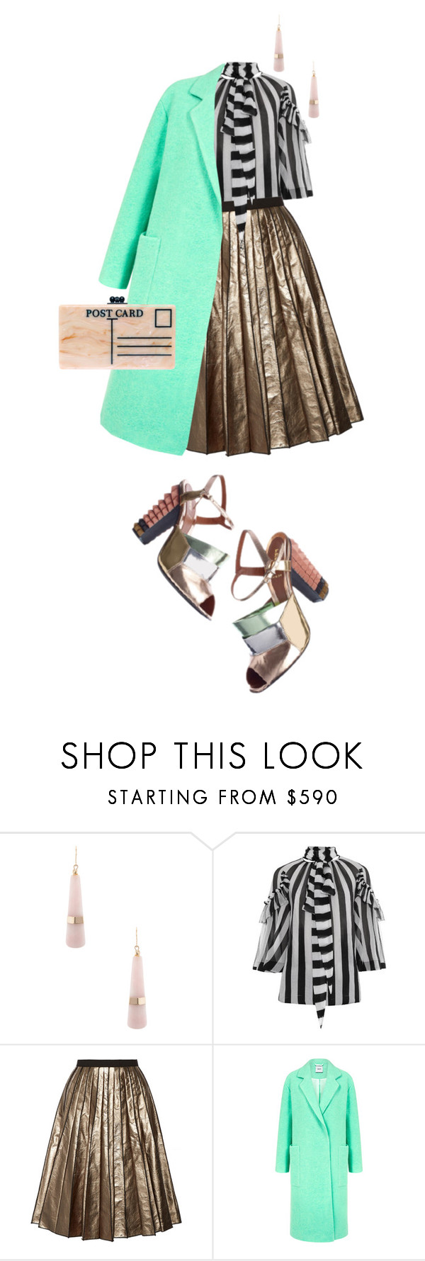"""""""partytime"""" by bananya ❤ liked on Polyvore featuring Givenchy, Marc Jacobs, Edit, Edie Parker, HolidayParty, Colorfulcoat and winteressentials"""