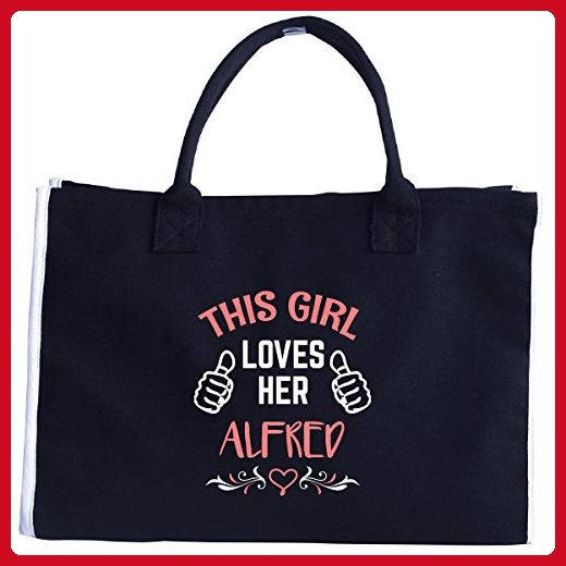 This Girl Loves Her Alfred Valentines Day Gift Tote Bag Totes