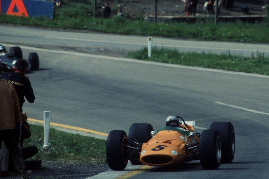 Bruce Leslie McLaren (NZ) (Bruce McLaren Motor Racing), McLaren M7A - Ford-Cosworth DFV 3.0 V8 (finished 1st) 1968 Belgian Grand Prix, Circuit de Spa-Francorchamps © McLaren Racing Ltd.