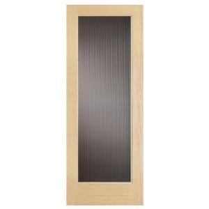 Steves Sons 30 In X 80 In Modern Full Lite Solid Core Pine Reed Glass Interior Door Slab M64nznnnac99 Glass Doors Interior