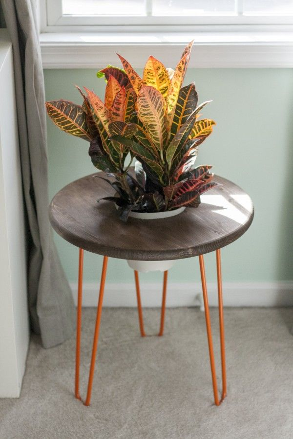 Diy Hairpin Leg Planter Side Table Dream Green For Ehow Metal Furniture