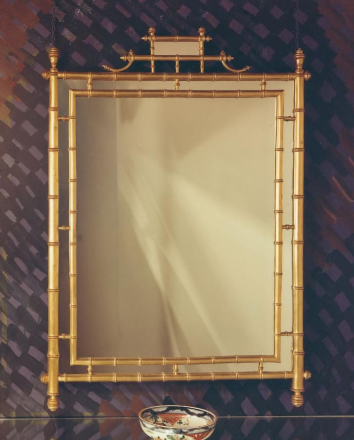 $1,125 gold bamboo mirror...why so much? | For the Home | Pinterest ...