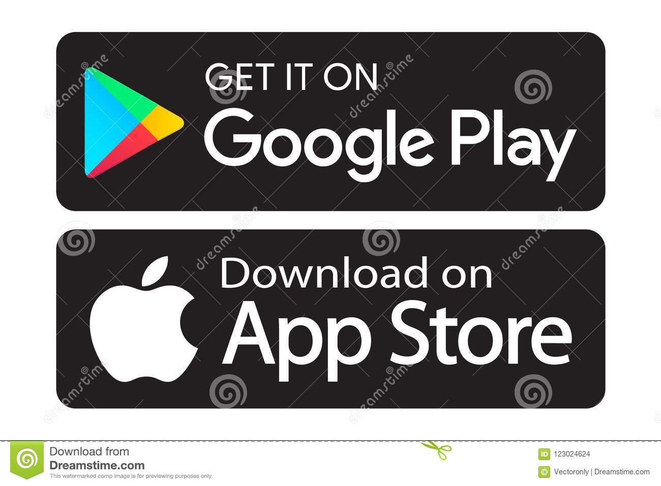 Google play app store icons editable vector illustration