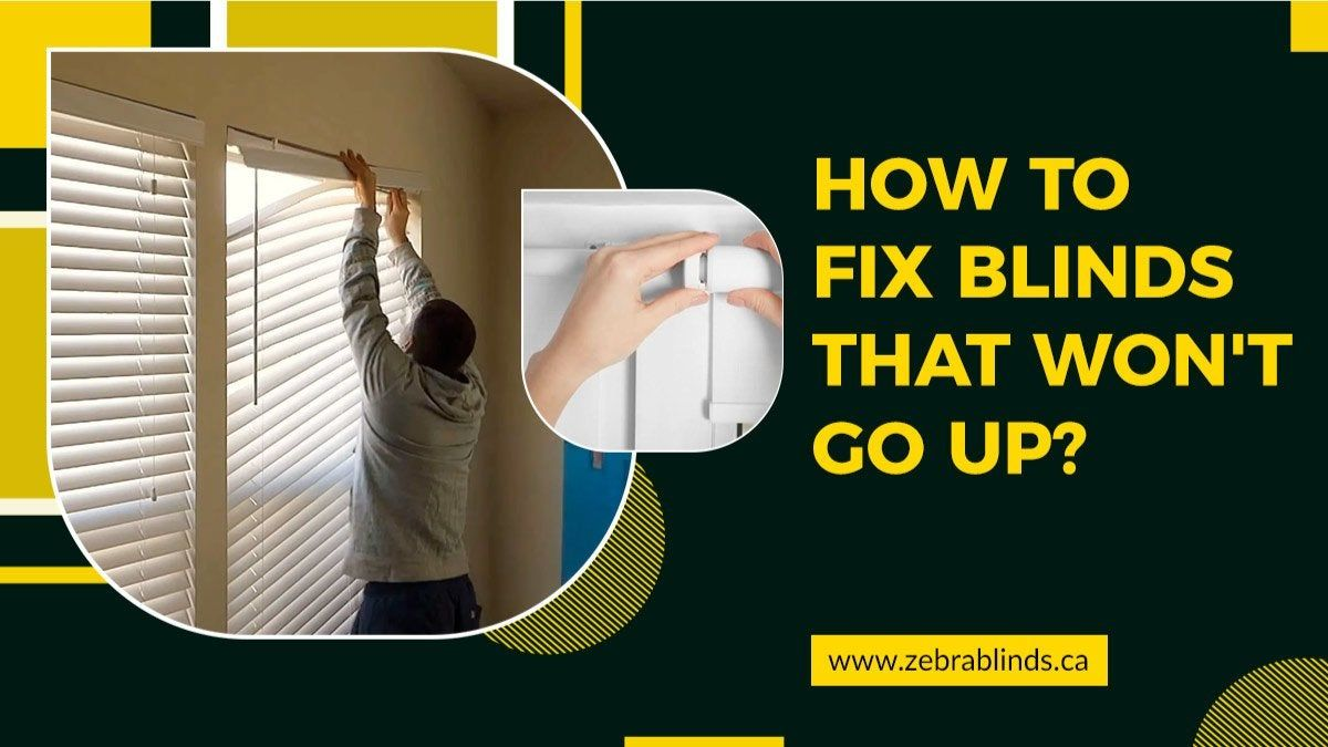 How to fix blinds that wont go up httpswww