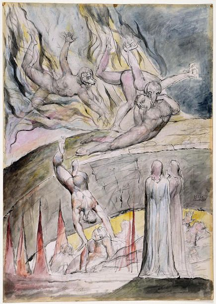 """Illustrations to Dante's """"Divine Comedy"""", 1824-27 ( (Multiple [7] Owners): electronic edition. William Blake.."""