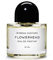 "Niche line Byredo has launched Flowerhead, a new fragrance inspired by founder Ben Gorham's ""own imagined Indian wedding ceremony"" — his mother is from India and he had recently attended a traditional Indian wedding, in which flowers, and the exchange of flower leis, play a large role. The notes include angelica seeds, cranberries, lemon, sambac jasmine, green notes, rose petals, tuberose, suede and ambergris."